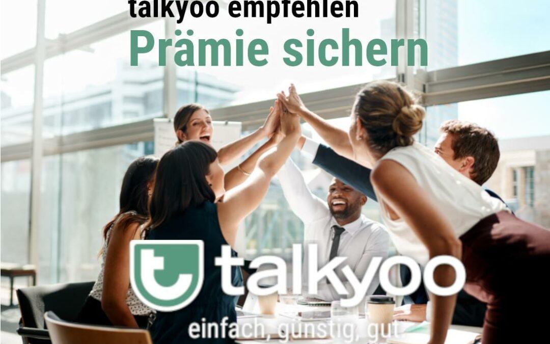 Empfehlen Sie unsere Telefonkonferenzen! 25€ Prämie für Sie. 50% Rabatt für den Neukunden.