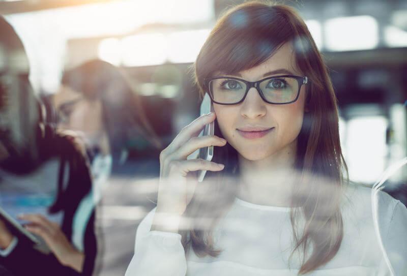 Die Websteuerung der Telefonkonferenz wird persönlich