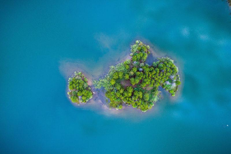 Eine Insel.