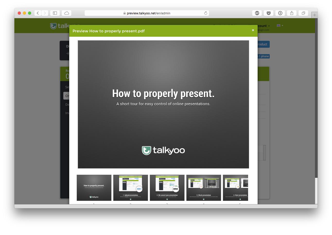 3. Check Presentation